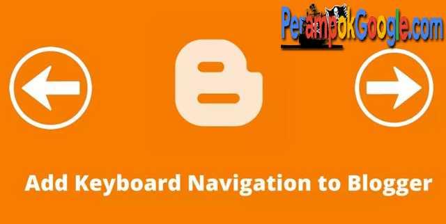 cara pasang navigasi keyboard komputer di blogger