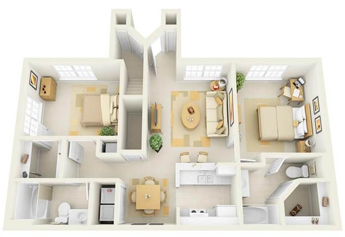 2+1  ev projeleri