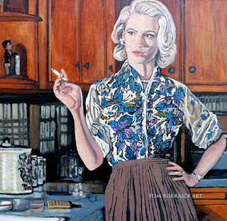 What's for dinner? by Boulder portrait artist Tom Roderick