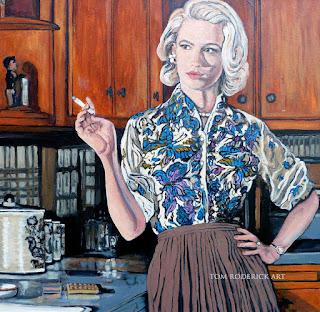 What's for dinner? by Boulder portrait artist Tom Roderick