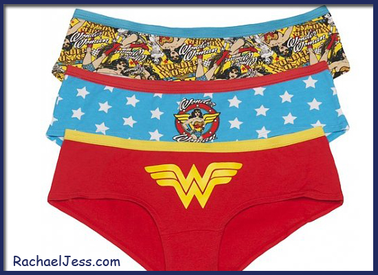 Feeling wonderful in Wonder Woman Knickers