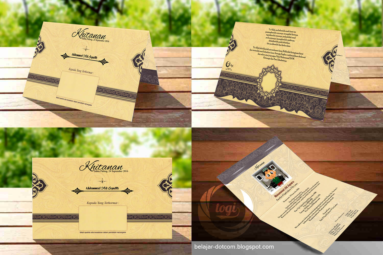 Contoh Desain Blanko Undangan Khitanan Dan Pernikahan Erba 88166