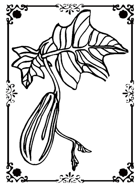 cucumber printable kids coloring sheet
