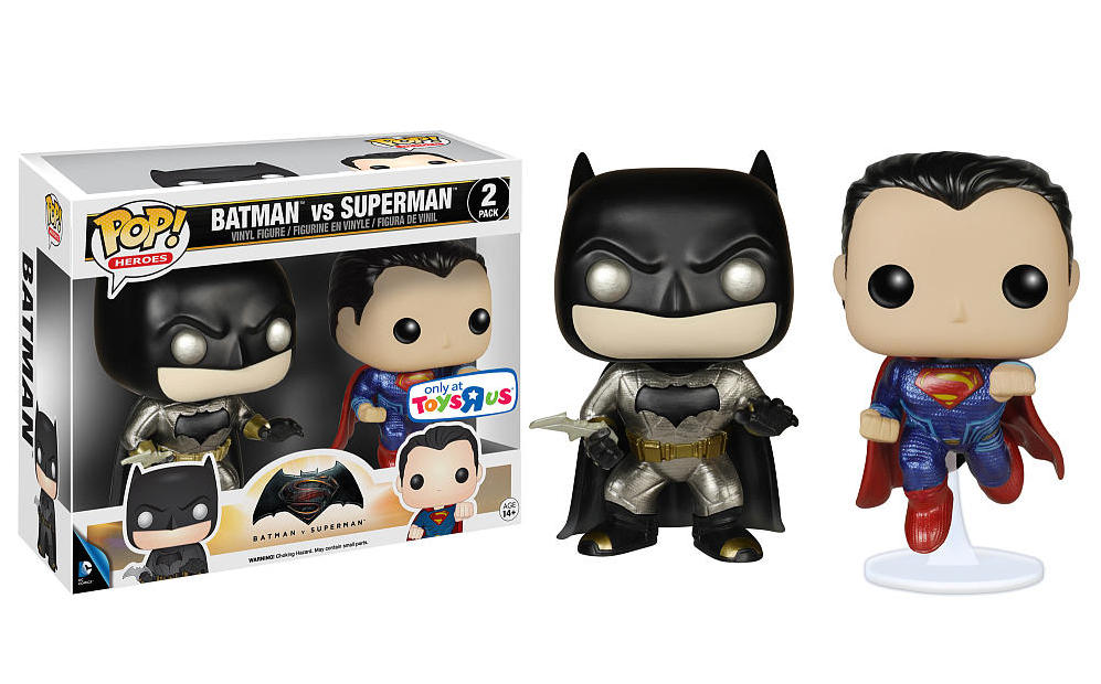 de2b4f42e49 BATMAN V. SUPERMAN  Armored Batman and Exclusive Metallic 2-Pack Featured  in Funko POP Movie Figure Line