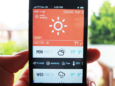 تطبيق عن الطقس