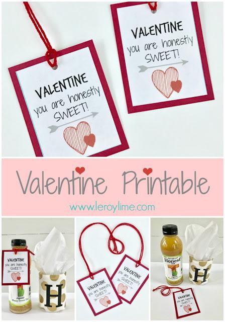Valentine Printable Tag - FREE - LeroyLime