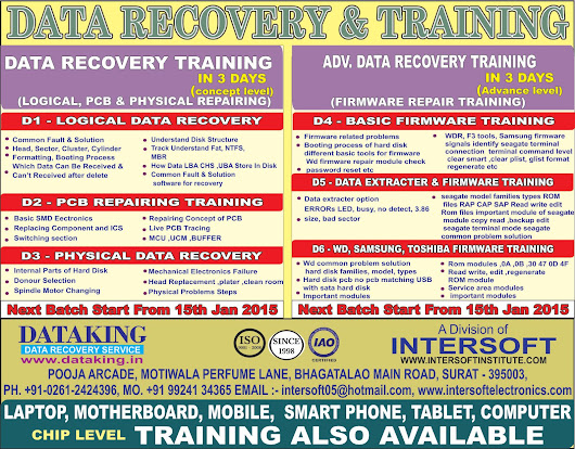 Advance Data Recovery Training course at Surat