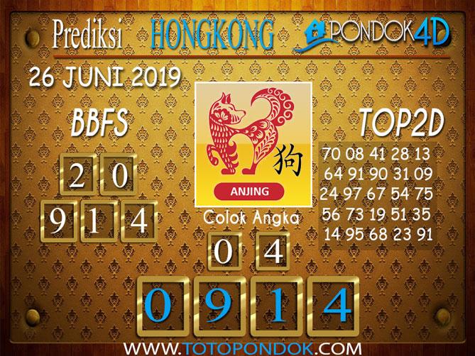 Prediksi Togel HONGKONG PONDOK4D 26 JUNI 2019