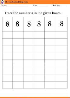 number 8  tracing worksheet