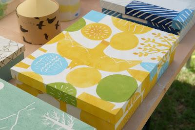 松本クラフトフェア2017 紙の箱工房AkaneBonBon 黄色い鳥