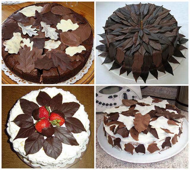 1 сентября, блюда на День учителя, День знаний, десерты шоколадные, листья, листья для торта, листья шоколадные, мастер-класс, осень, торты на День Знаний, торты на День Учителя, торты осенние, торты школьные, украшения для тортов, украшения из шоколада, Как сделать шоколадные листья для украшения торта
