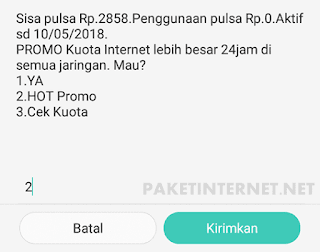 Paket Internet Kartu As Combo Harian