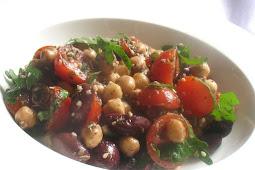 Chickpea Olive Salad with Za'atar and Cherry Tomatoes