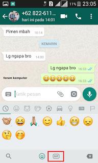 2 Cara kirim gambar bergerak gif di whatsapp
