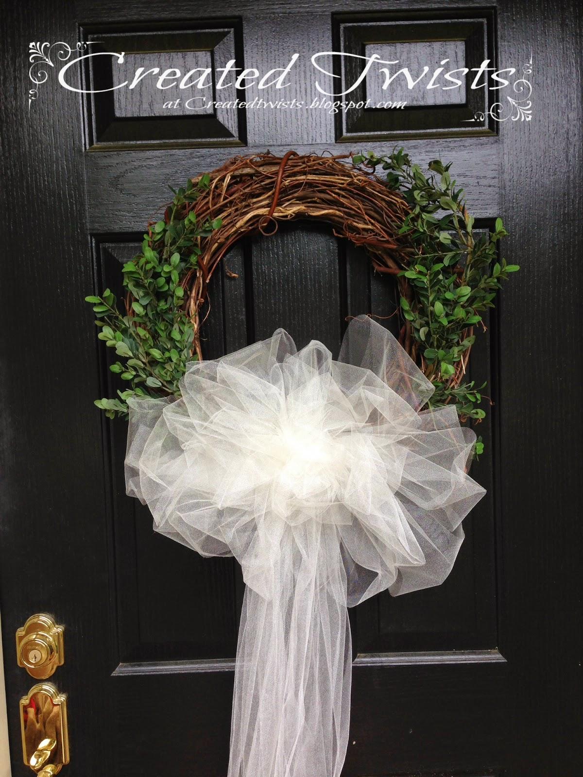 Created Twists Wedding Wreaths