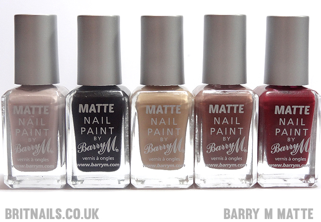 Barry M Matte Nail Paint Swatches And Review Brit Nails