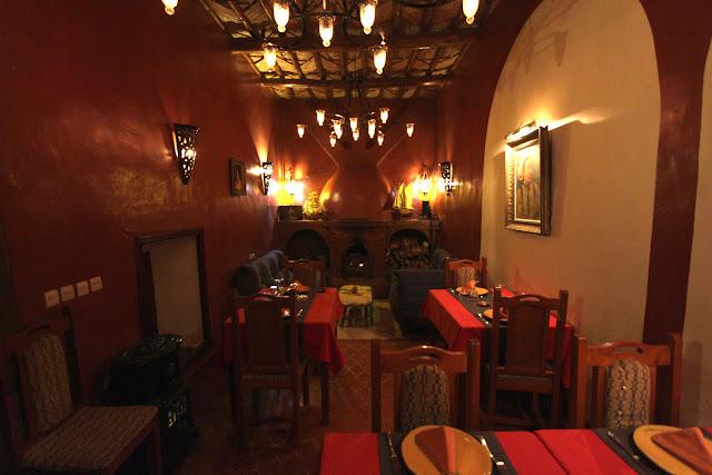 Vista general del restaurante del riad Timadrouine