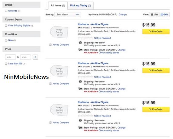 Best buy lista tres supuestos nuevos amiibo de Zelda