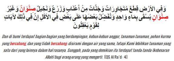 Contoh Bacaan Idzhar Wajib dalam Surat Ar-Ra'd ayat 4