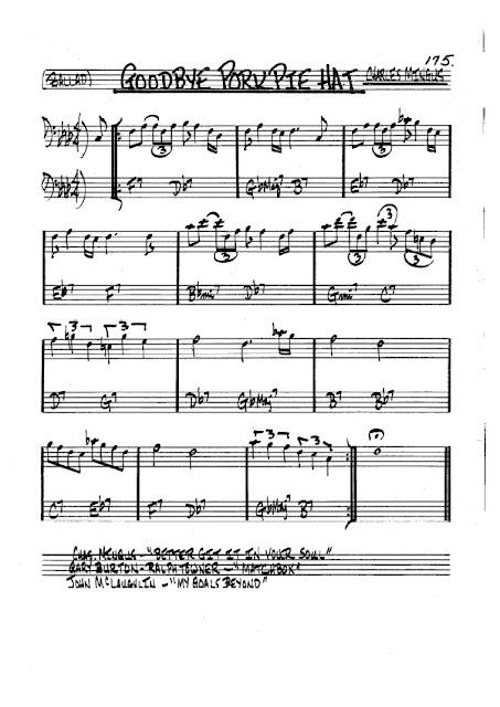 Partitura Violonchelo Charles Mingus
