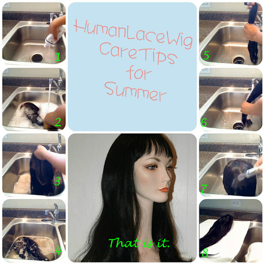 How to wash lace wigs for summer?