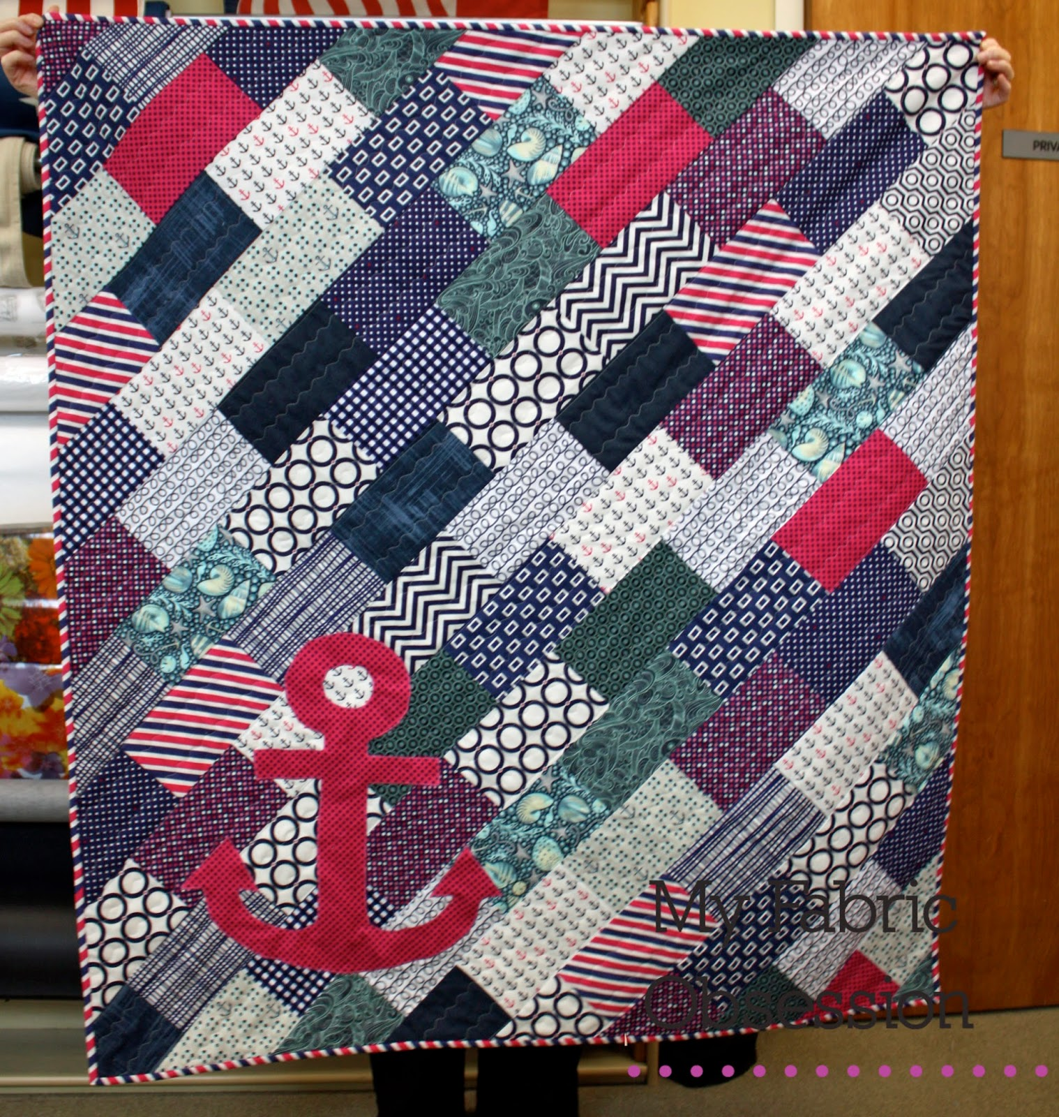 http://myfabricobsession.blogspot.com/2014/03/pink-and-navy-nautical.html