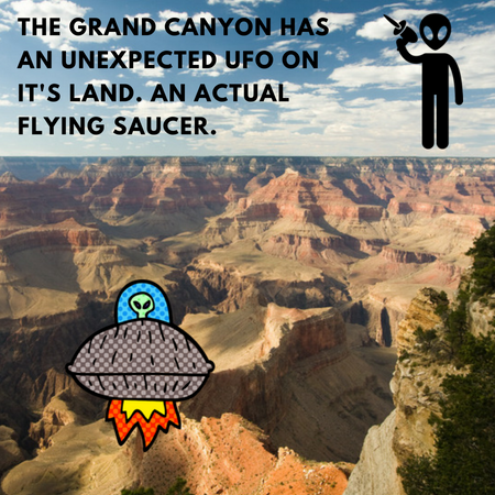 UFO wreckage has been found in the Grand Canyon.