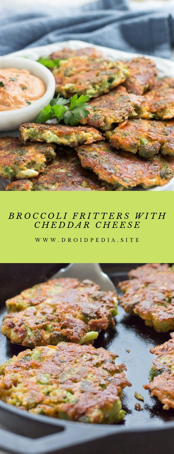 BROCCOLI FRITTERS WITH CHEDDAR CHEESE #LOWCARB #HEALTHY #APPETIZER