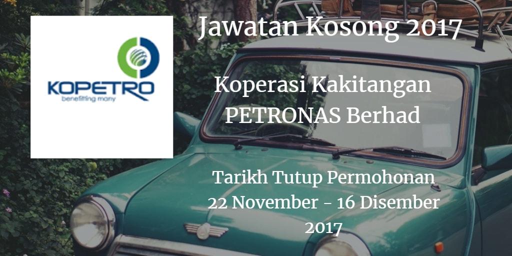 Jawatan Kosong KOPETRO 22 November - 16 Disember 2017