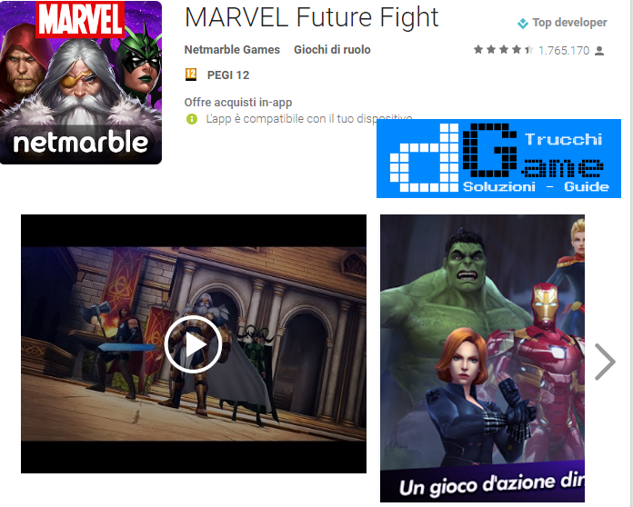 Trucchi Marvel Future Fight Mod Apk Android v2.1.0