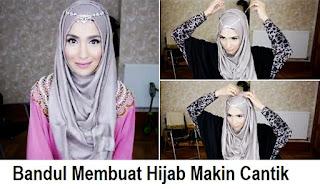 Tutorial Hijab Pesta Memakai Bandul, Sederhana Tapi Cantik