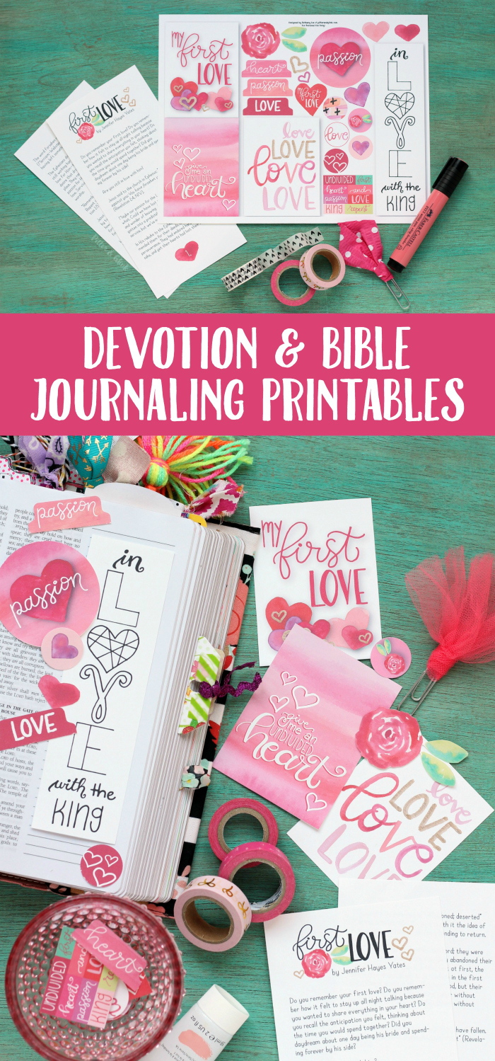 Free Love Devotion + Bible Journaling Printables