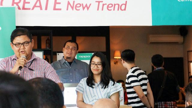 Narasumber acara OPPO Tour Selfie Expert 2017 di Pontianak