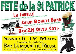 Concert Trad - Rock avec un plateau diversifié breton, celtique, irish et même cajun