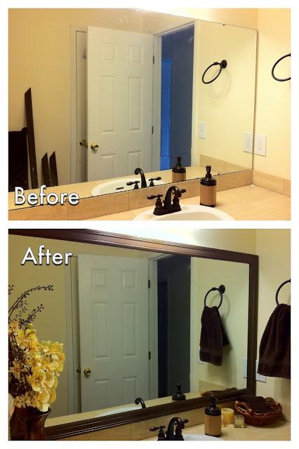 Miscellanea Etcetera Diy Bathroom Mirror Frame For Less