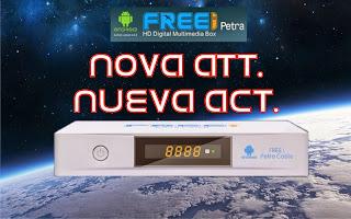 ATUALIZAÇÃO FREEI PETRA HD ANDROID CABLE - V 1.025 - 11/11/2014