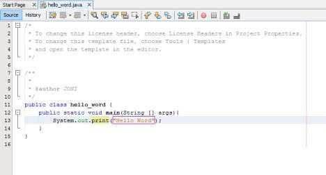 12 - Kode Pertama Pemrograman Java