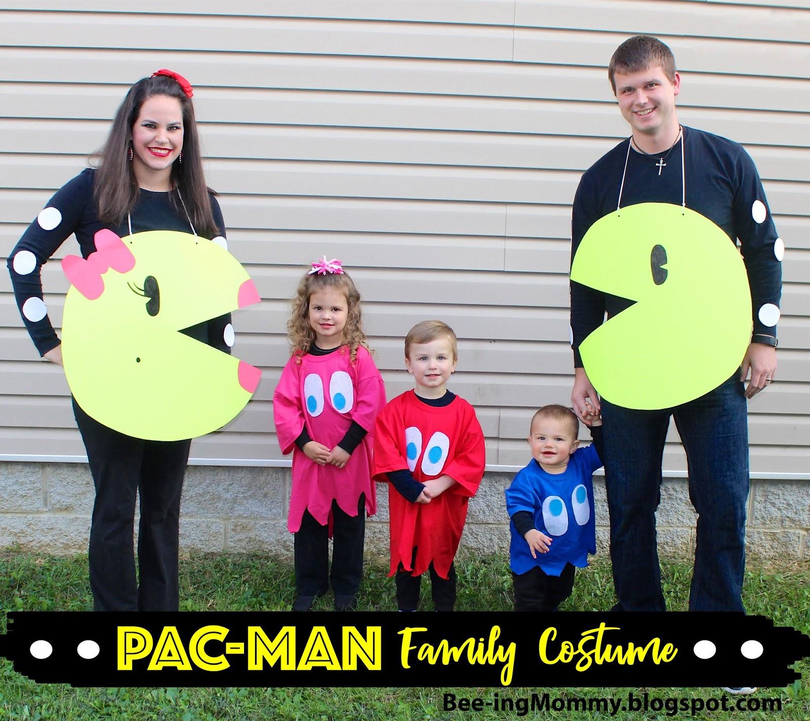 Diy Family Halloween Costumes.Pac Man Family Costume