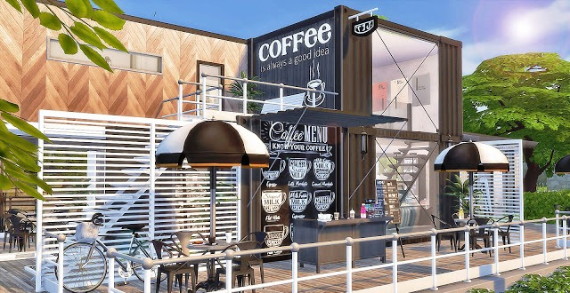 Container Cafe design Concept