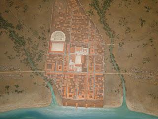Maqueta de la ciudad romana de Baelo Claudia