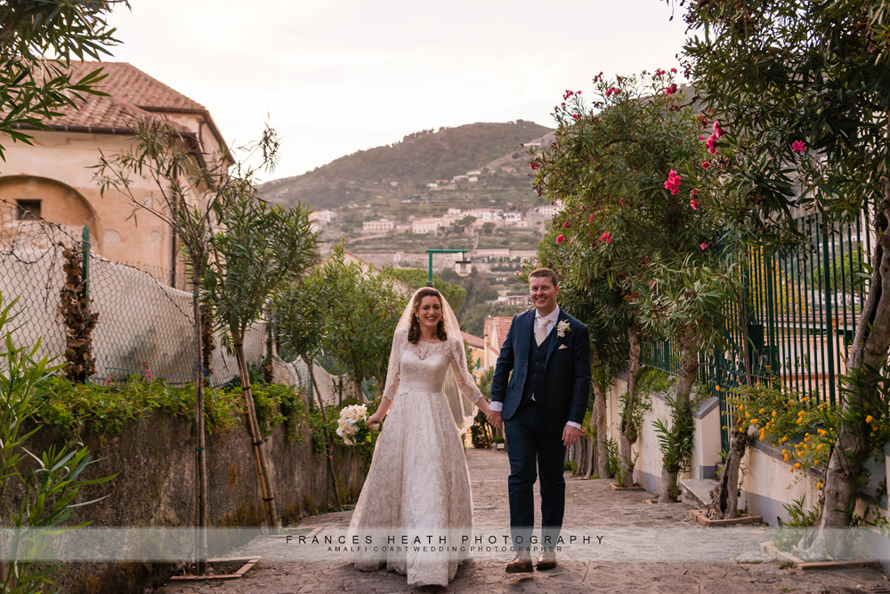 Sunset wedding in Ravello