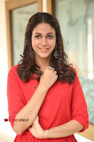 Actress Lavanya Tripathi Latest Pos in Red Dress at Radha Movie Success Meet .COM 0113.JPG