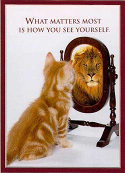 berlatih depan cermin