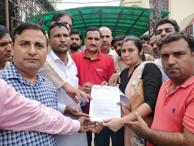 NPS-affected employees performed and submitted memorandum at the residence of the Minister of State