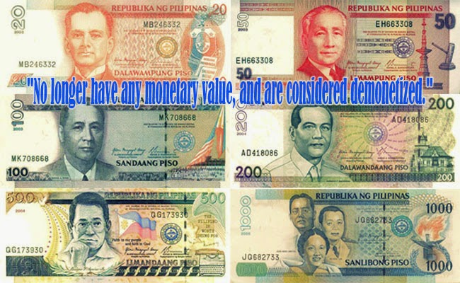 Old Peso Bill Will Not be Accepted on January 1, 2016 as Banko Sentral ng Pilipinas Announced