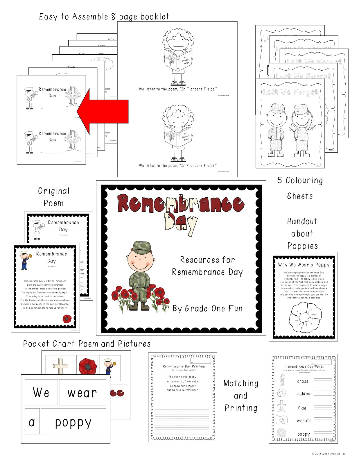 Grade One Snapshots: Remembrance Day