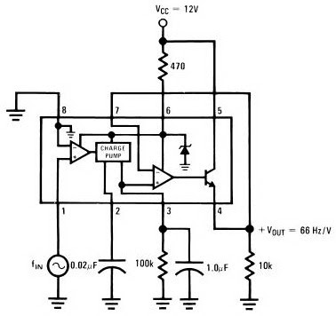 Free Circuit Diagrams: IC LM2917 Frequency to Voltage