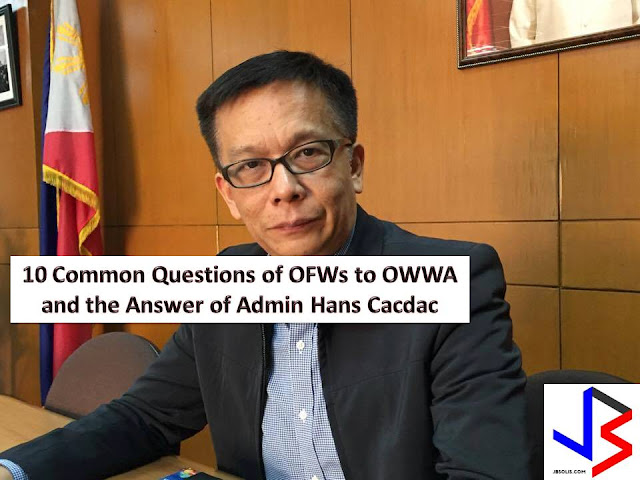 The Overseas Welfare Workers Administration (OWWA) is doing its best to connect with every Overseas Filipino Workers (OFW) around the world to answer their queries.  This is through Facebook Live in the official account of OWWA Administrator Hans Leo Cacdac, that is also shared in OWWA Official Facebook Page.  This week, Cacdac gives news update, particularly in three things.
