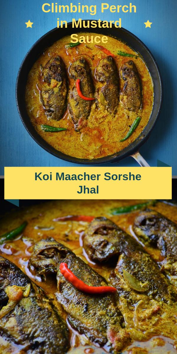 Climbing Perch in Mustard Sauce | Koi maacher sorshe jhal recipe.