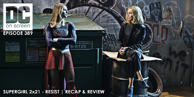 Supergirl and Cat Grant have a talk